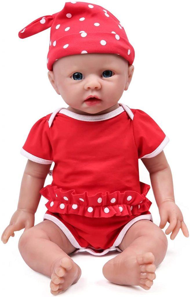 Ce bébé en silicone IVITA ressemble à un vrai nouveau-né.