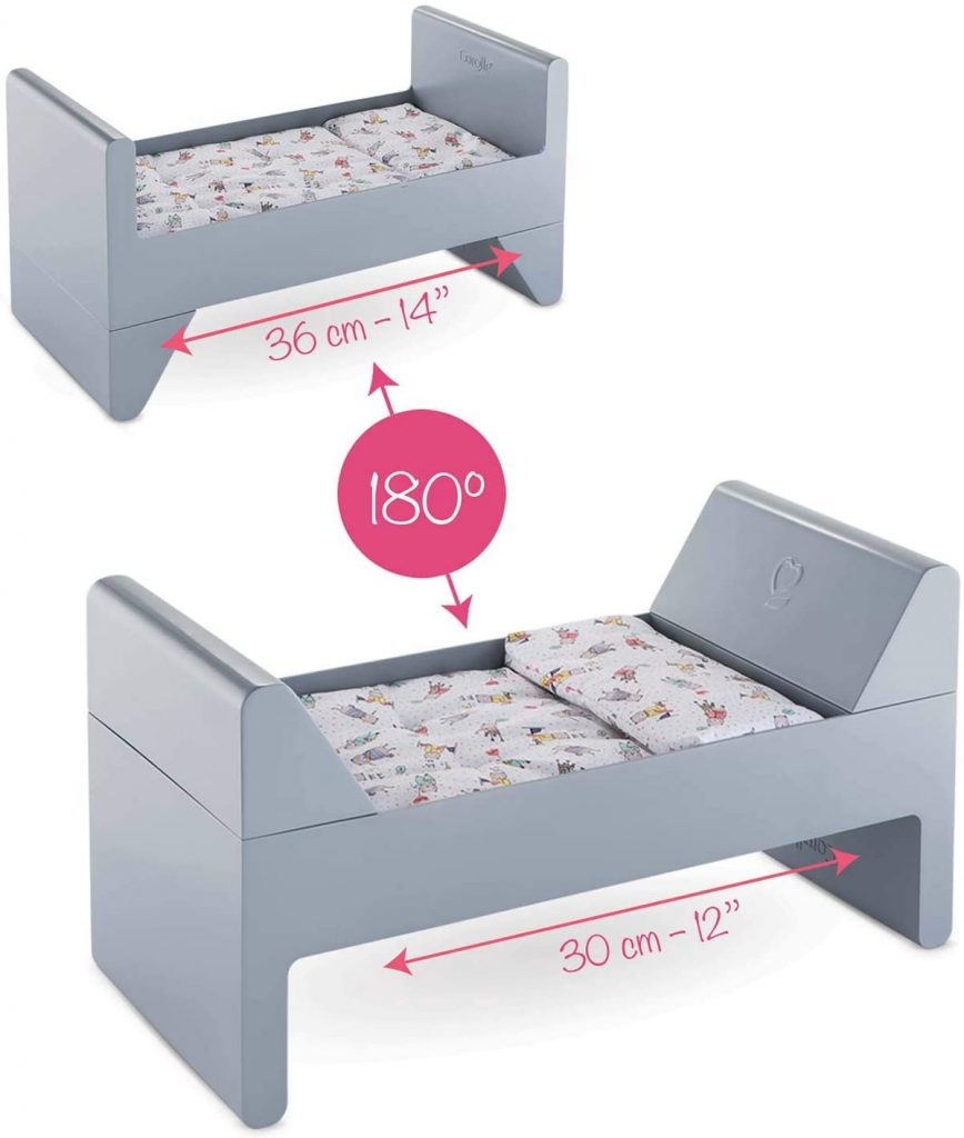 Le lit Corolle pour poupée est évolutif.
