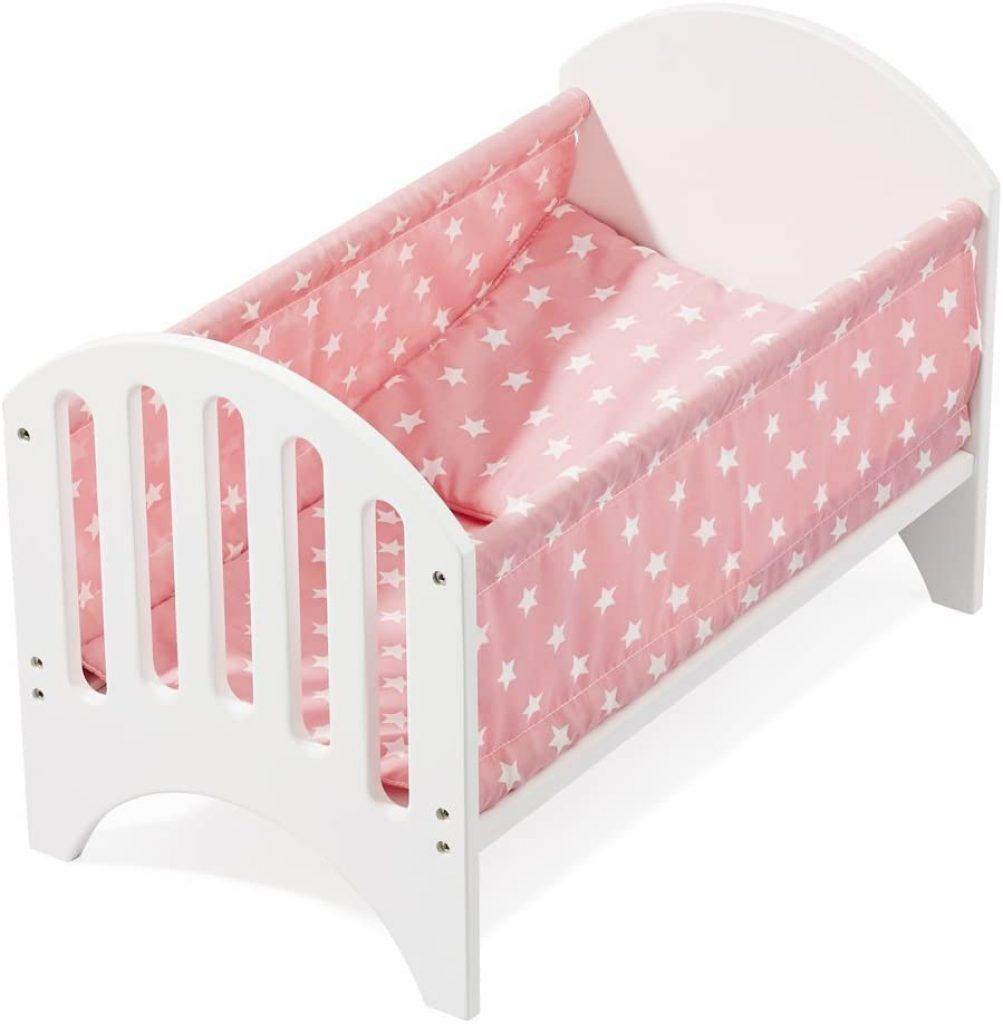 Le lit pour poupée Howa est livré avec un coussin et un matelas.