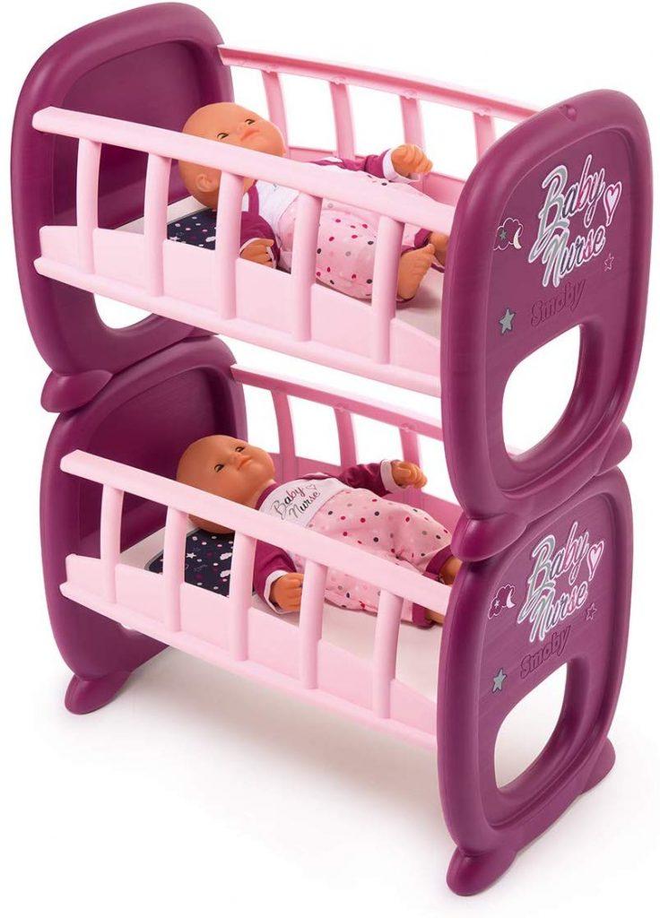 Le lit superposé Smoby Baby Nurse peut se diviser en 2 lits simples.