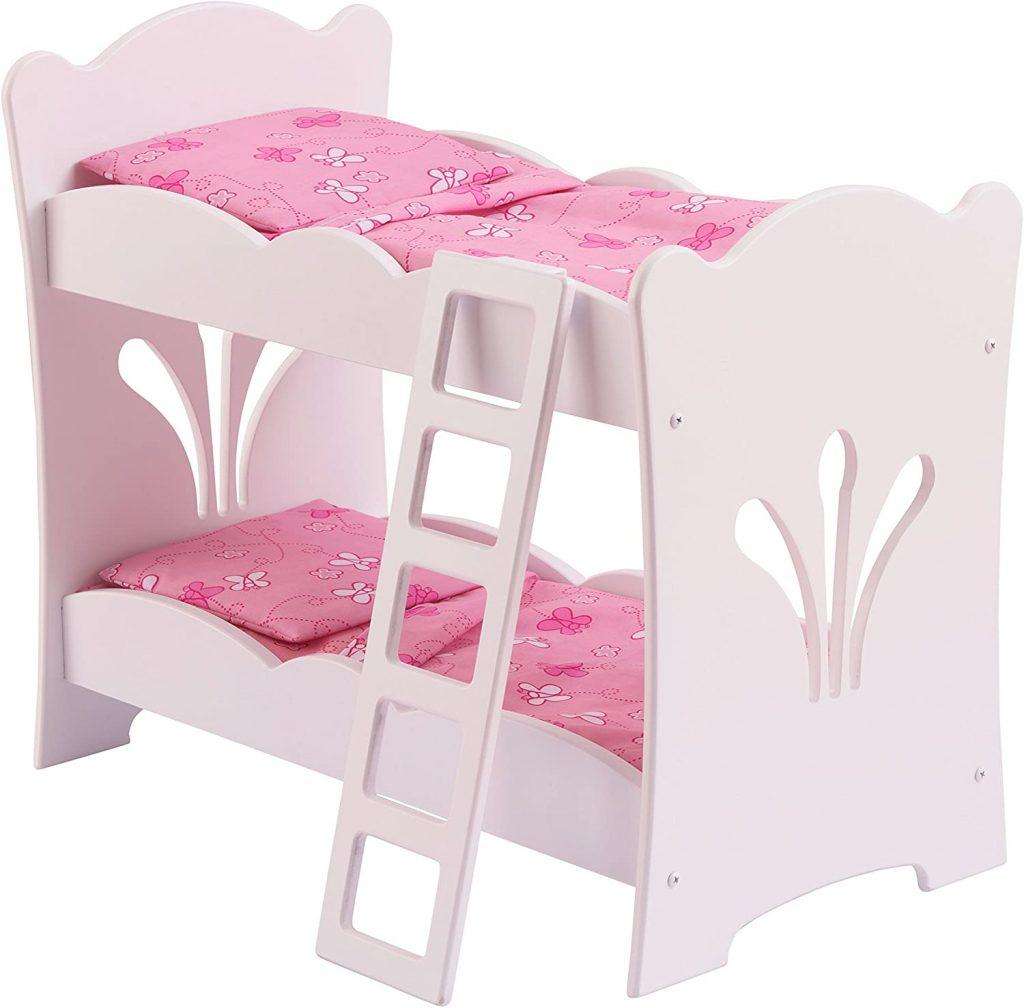 Ce lit superposé poupon Kinderkraft a une échelle.