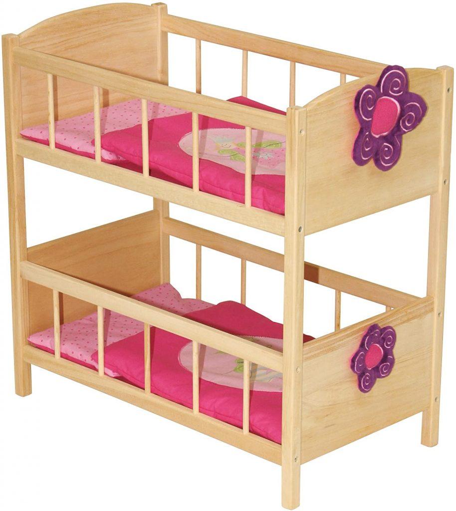 Ce lit superposé poupée Roba peut accueillir 2 poupons de 50 cm maximum.