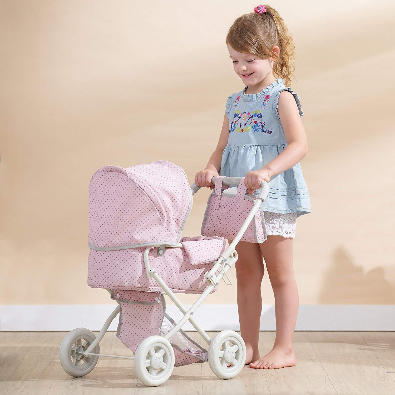 Le landau jouet permet à votre enfant de jouer au papa et à la maman en promenant son poupon.