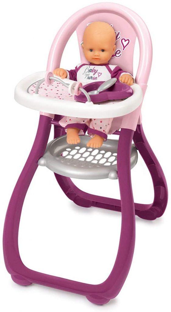 La chaise haute Smoby Baby Nurse convient aux enfants dès 18 mois.