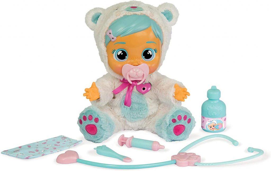 La poupée interactive Cry babies Kristal pleure des larmes réelles.