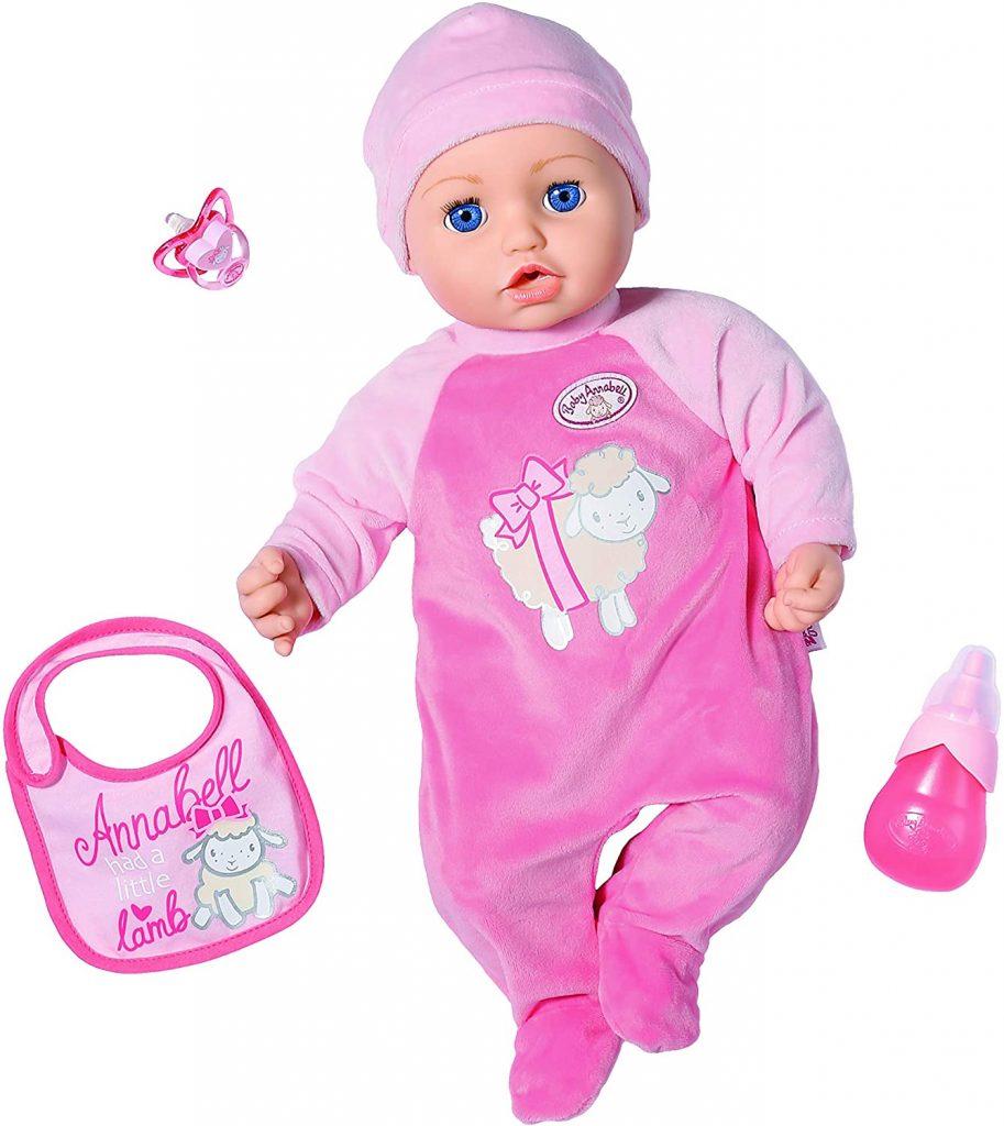 La poupée Baby Annabell mesure 43 cm.