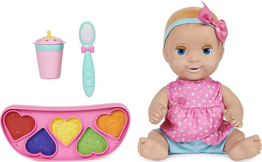 La poupée Luvabella magic Mia a faim, il faut lui donner à manger !