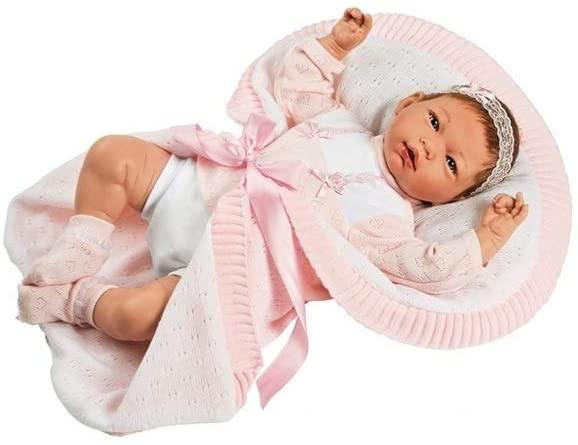 La poupée réaliste Ainoa a des cheveux implantés à la main.