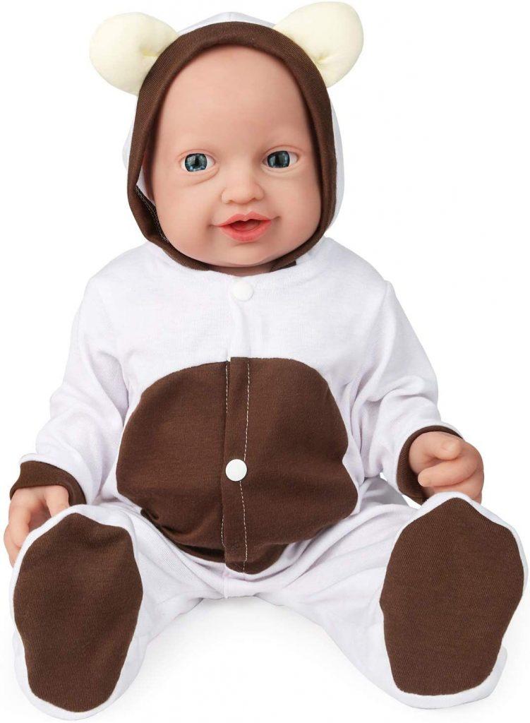 Ce bébé reborn en silicone heureux Vollence est une fille.