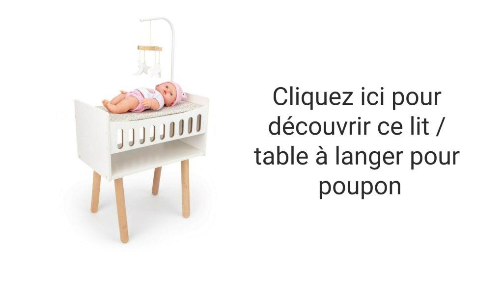 Découvrez vite ce lit qui fait table à langer pour poupon !