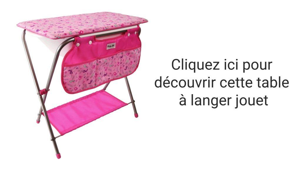 Découvrez cette table à langer jouet qui fait également baignoire.