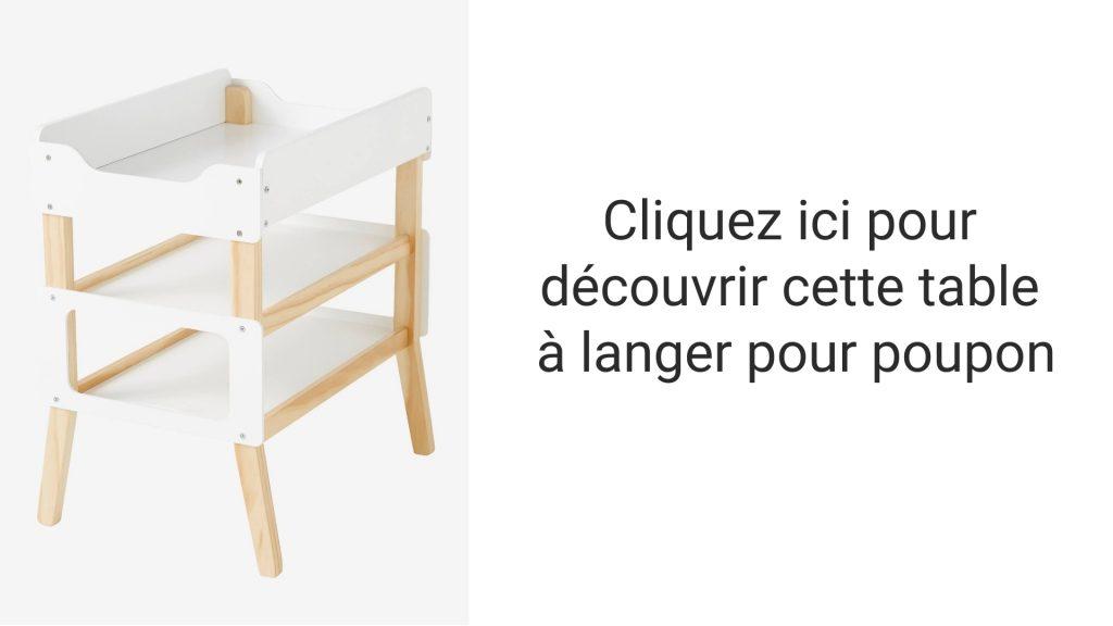 Découvrez cette table à langer pour poupon au design scandinave !