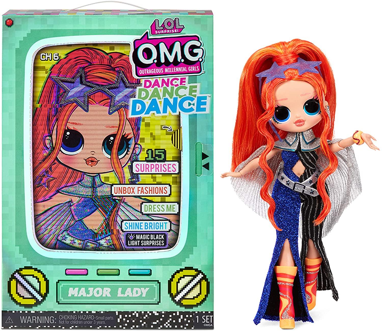 Major Lady est une Lol Surprise OMG aux cheveux oranges.