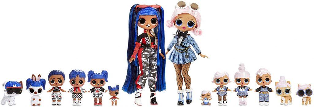 Le mega Coffret de poupées Lol comprend 14 poupées au total.