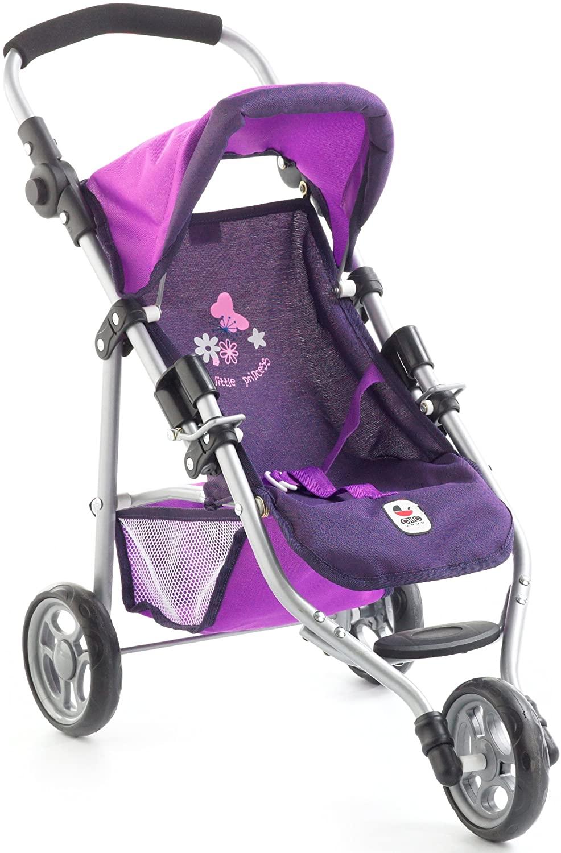 Cette poussette jouet Bayer Chic 2000 est de couleur violette.