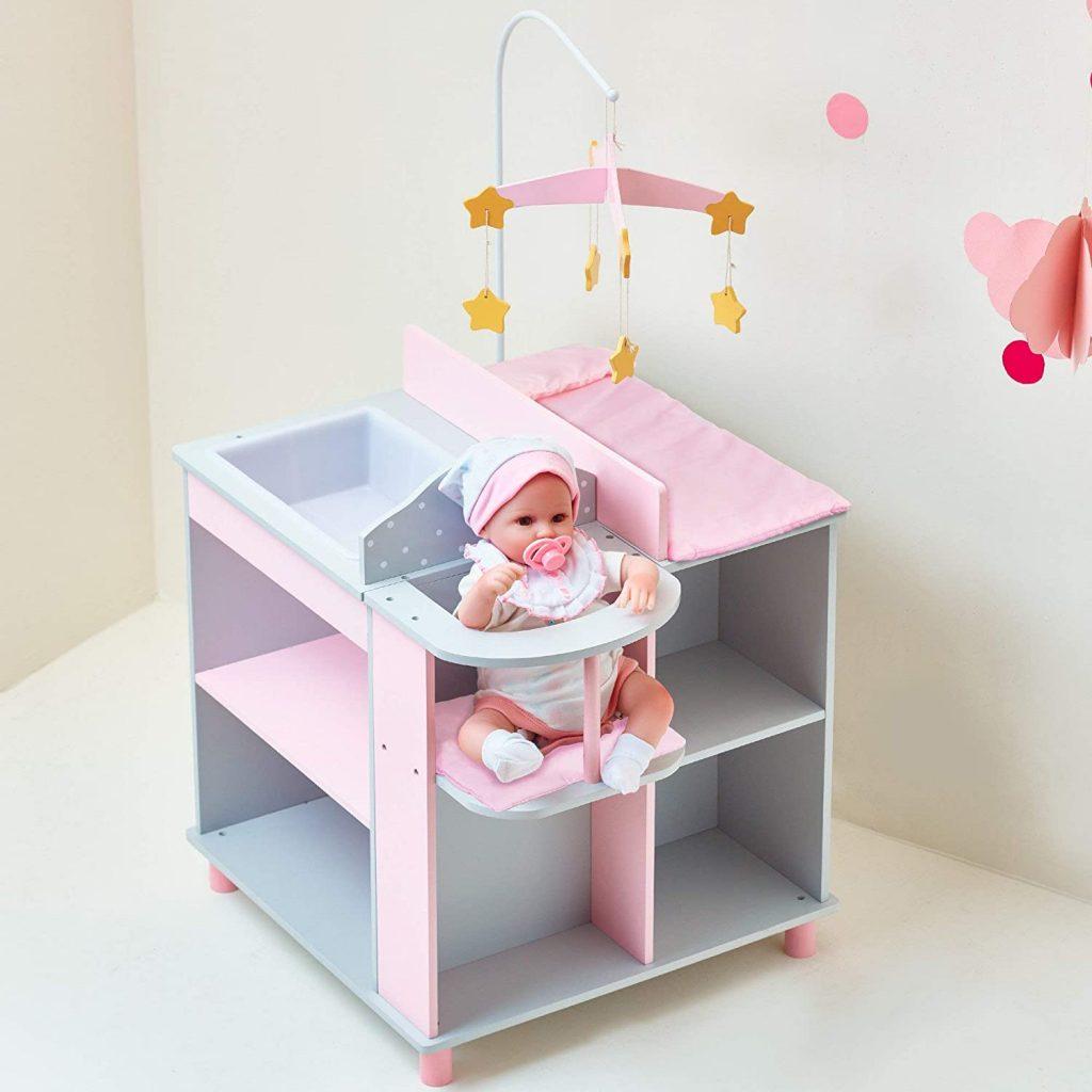 Cette table à langer pour poupée propose 3 fonctionnalités différentes.