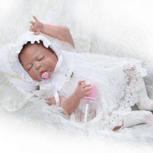 Bébé reborn fille en silicone Valentine