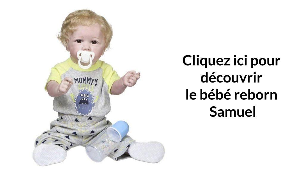 Le poupon comme un vrai bébé Samuel est blond.