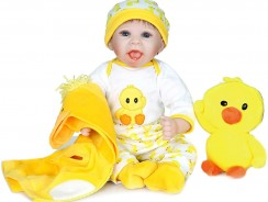 Bébé reborn garçon avec doudou canard