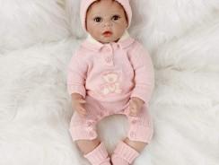 Bébé reborn réaliste yeux marrons